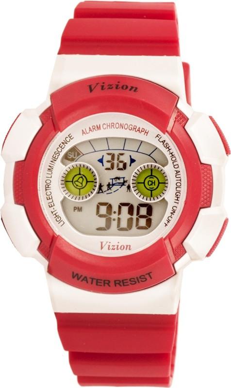 Vizion 8540B-7RED Cold Light Digital Watch - For Boys