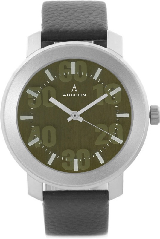 ADIXION 3120SL05 New Stainless Steel watch with Genuine Leather Strep. Men's Watch image.