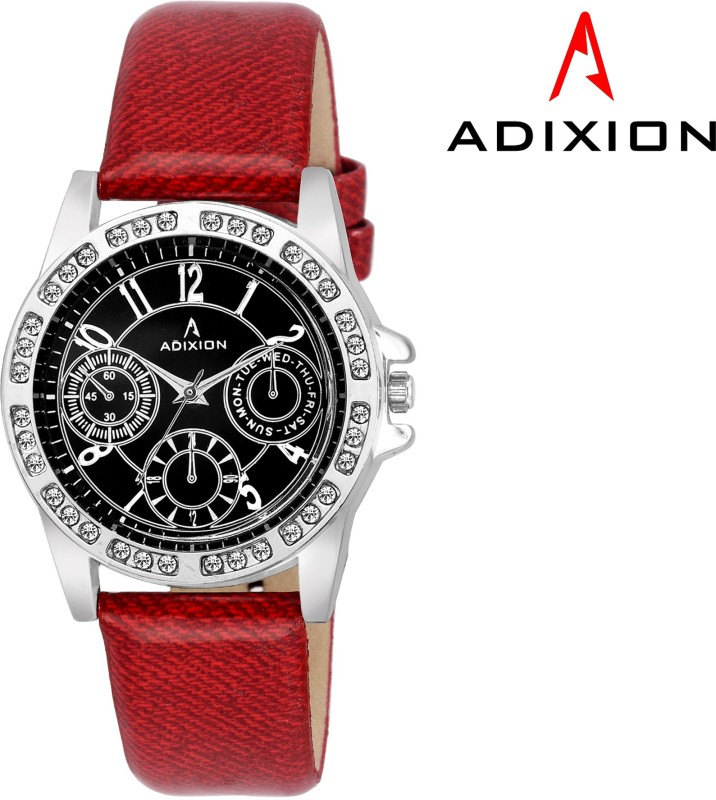 ADIXION 9401SL01A New Chronograph Pattern Leather Strep Watch Analog Watch - For Women