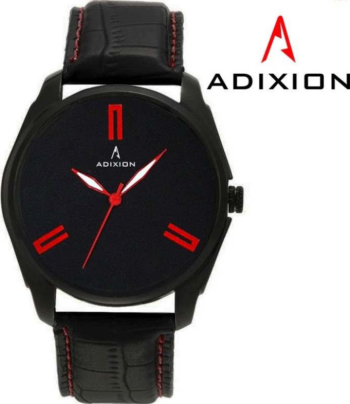 ADIXION AD1013NL01 New Leather Steel Ip Black Pleting WATCH Analog Watch - For Men