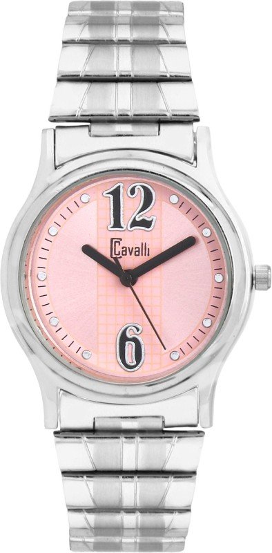 Cavalli CW114 Trendy & Designer Pink Dial Stainless Steel Analog Watch - For Women