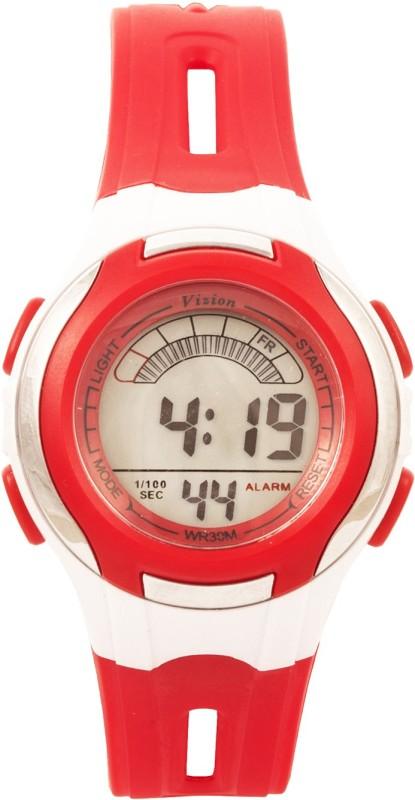Vizion V8545019B-6(Red) Sports series Digital Watch - For Boys & Girls