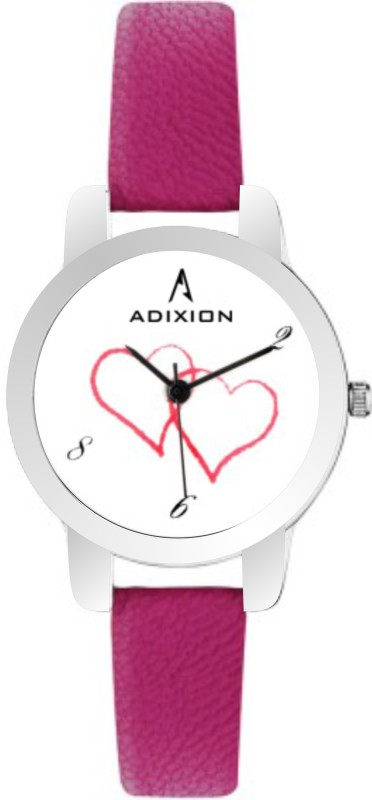 ADIXION 9421SL26 New Rani Pink Leather Strap Women's Watch image
