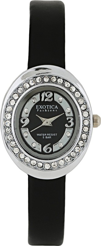Exotica Fashions EFL-52-Black Basic Women's Watch image
