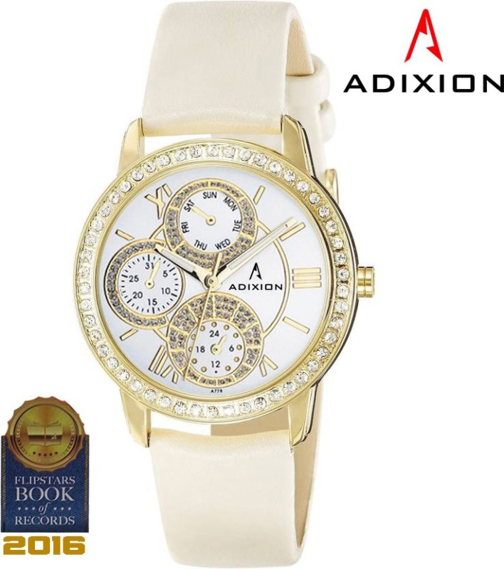 ADIXION 9743YL03 New Series Genuine Leather Watch with Chronograph Pattern Analog Watch - For Men & Women