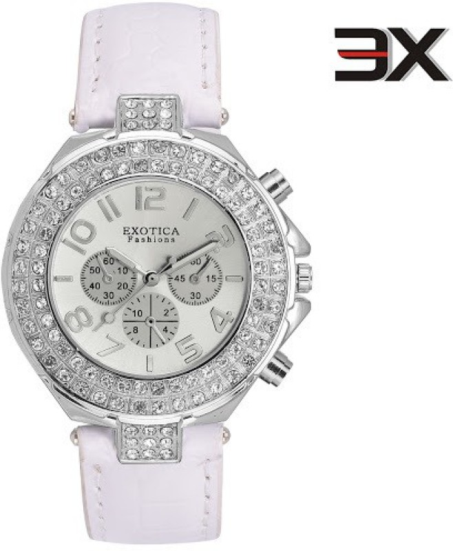 Exotica Fashions EFN-07-White-New New Series Analog Watch - For Women
