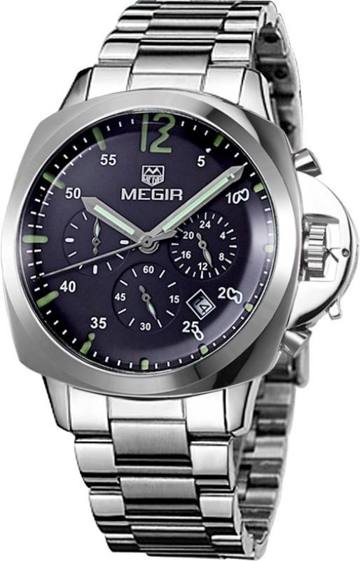 Megir 3006-Black Analog Watch - For Men