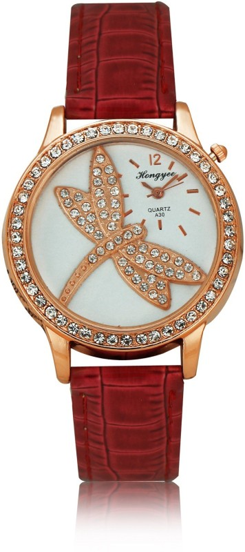 Hongyee A30 Dragonfly Analog Watch - For Women