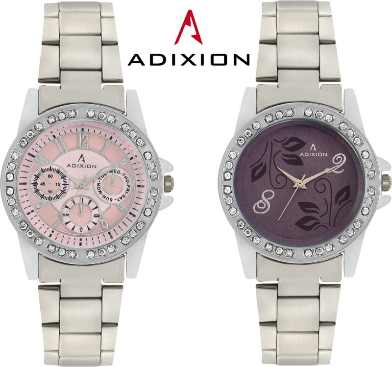 ADIXION 9401SM0607 Combo New Chronograph Pattern Steel Analog Watch - For Women