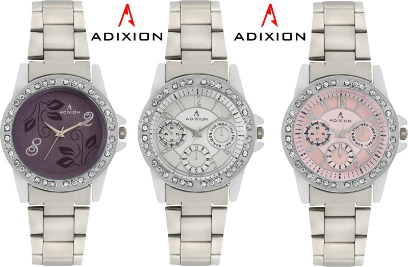 ADIXION 9401SM070206 Combo New Chronograph Pattern Steel Analog Watch - For Women