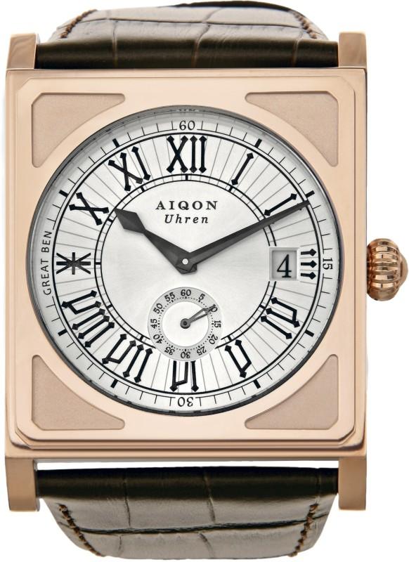 Aiqon S0130001 - Silver Great Ben 1 Analog Watch - For Men