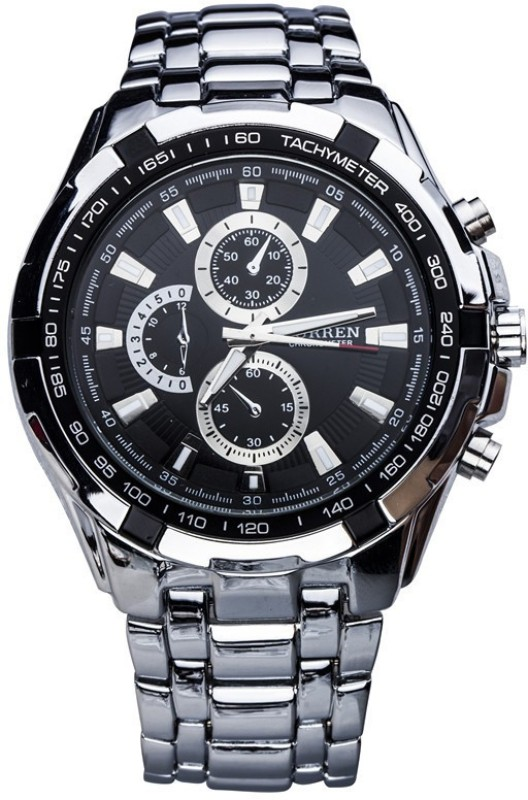 Curren 8023-SLV-BK Men's Watch