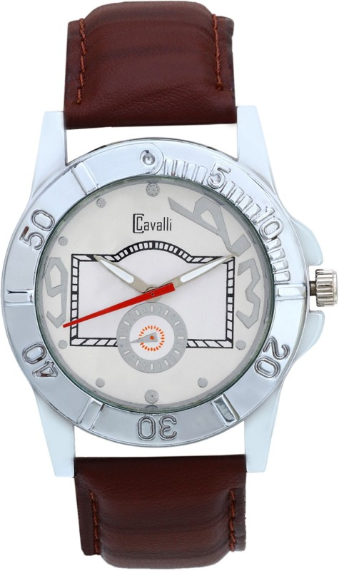 Cavalli CW094 White Classy & Designer Dial Leather Analog Watch - For Men