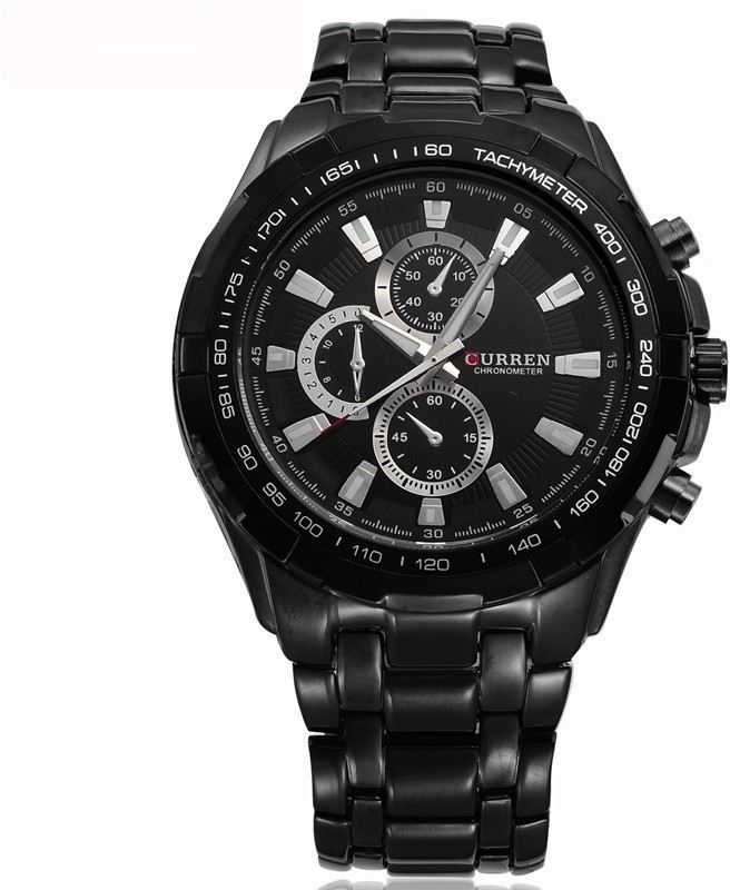 Curren Black-8023-2 Men's Watch