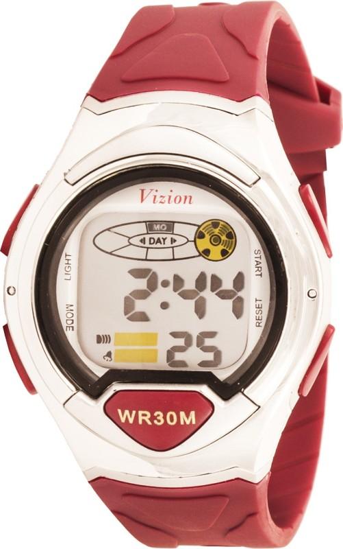 Vizion 8503B-1RED Cold Light Digital Watch - For Boys