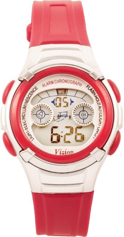 Vizion 8523B-1RED Sports Series Digital Watch - For Boys & Girls