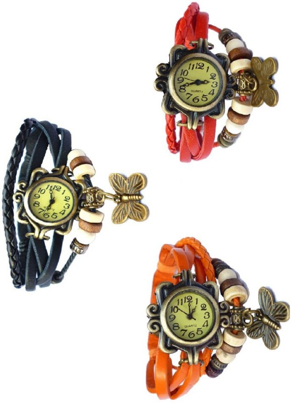 Ewwe Partyware Pack Of 3 Analog Watch - For Girls