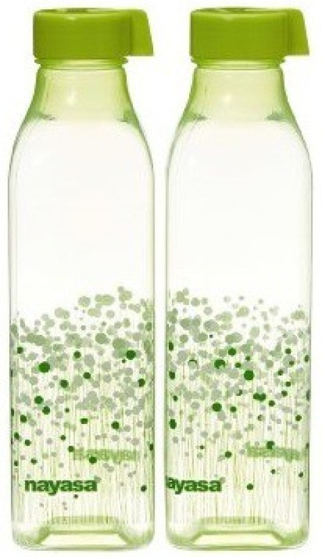 Nayasa Opaque Series 1000 ml Water Bottles(Set of 2, Green)