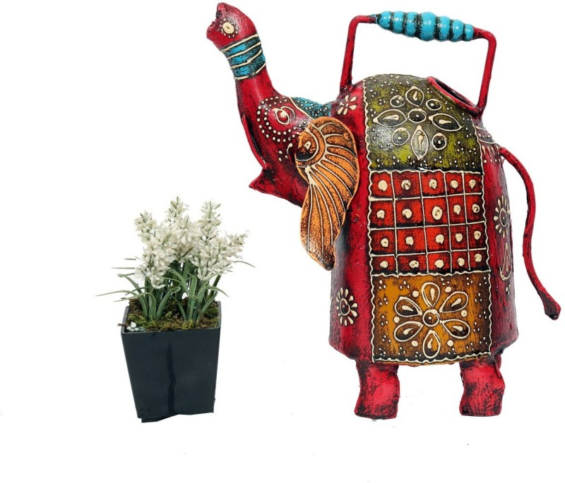 Indikala Water Pitcher Elephant Shaped 1 L Water Cane(Red, Pack of 1)