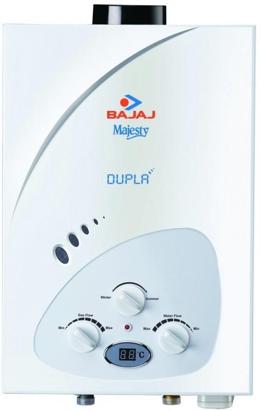 Bajaj 6 L Gas Water Geyser(White, Majesty Dupla LPG 6-Litre)