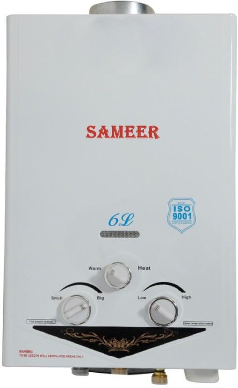 Sameer 6 L Gas Water Geyser (Spout, White)