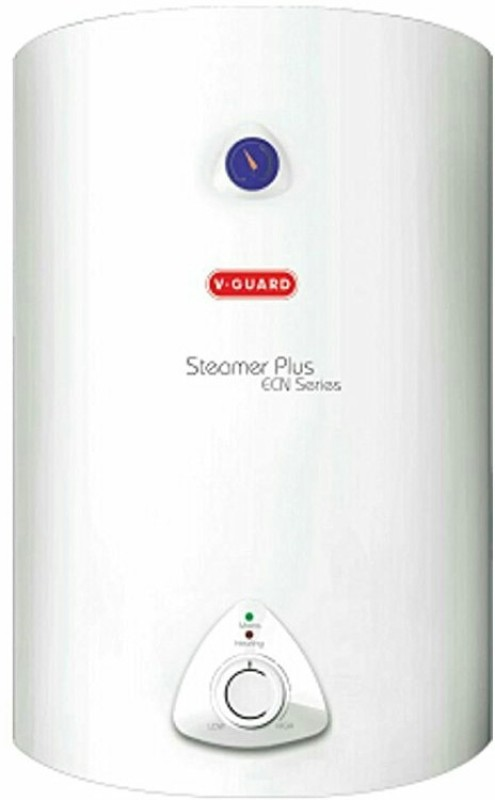 V-Guard 15 L Storage Water Geyser(White, steamer plus ecn)