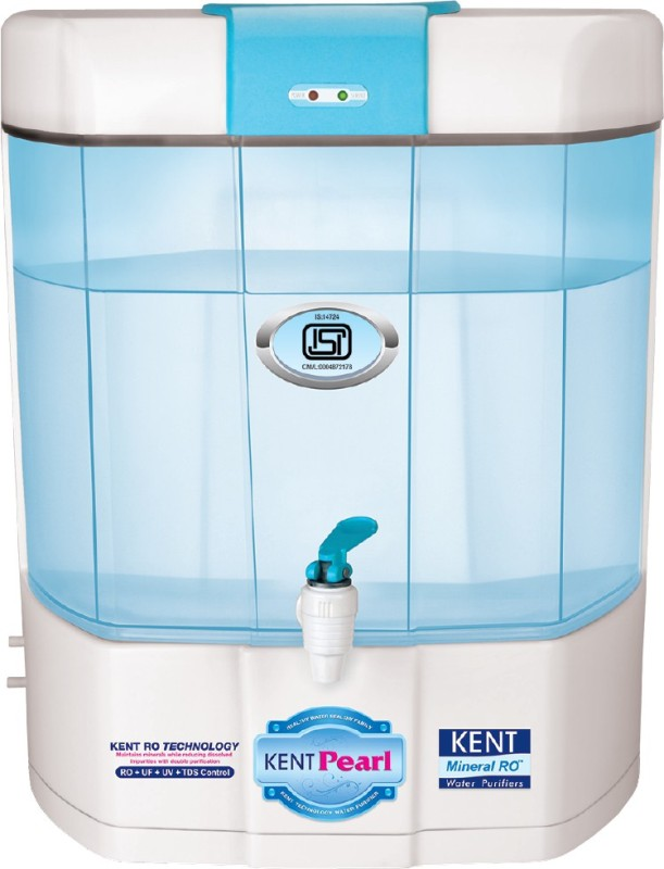 Kent Pearl Mineral RO 8 L RO + UV + UF Water Purifier(White & Blue)