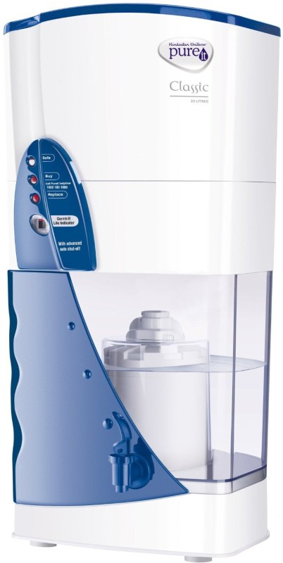 Pureit Classic 23 L Gravity Based Water Purifier(White, Blue)