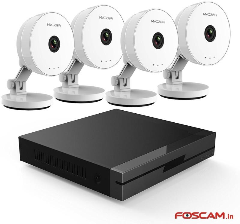 Foscam c1 Lite, FN3104H  Webcam(White (Camera), Black (NVR)) image