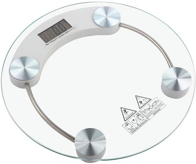 Posh Offer Personal - Round Weighing Scale(White)
