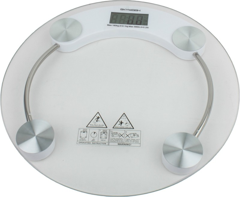 Inure GLASSSCALE Weighing Scale(White)
