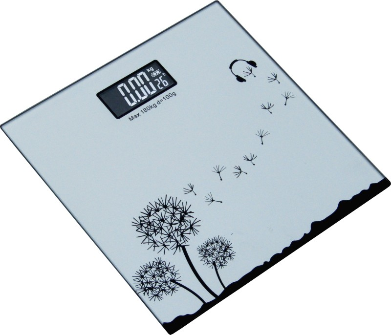 Weightrolux 8mm thick glass Weighing Scale(Silver)