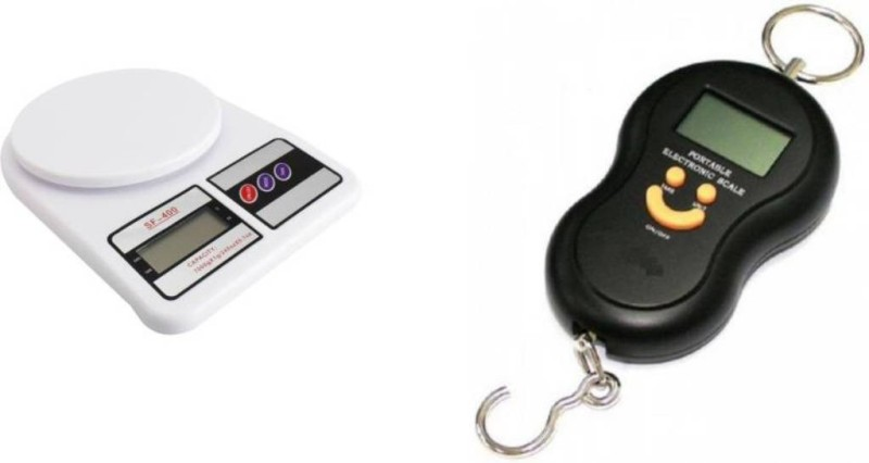 sunnex Pack Of Digital Multipurpose & Smiley Hanging Weighing Scale(White, Black)
