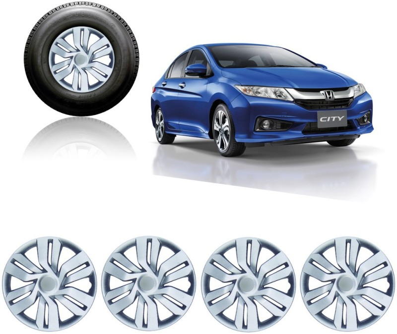 Auto Pearl Premium Quality Car Full Caps Silver 15Inches Wheel Cover For Honda City(15 inch)