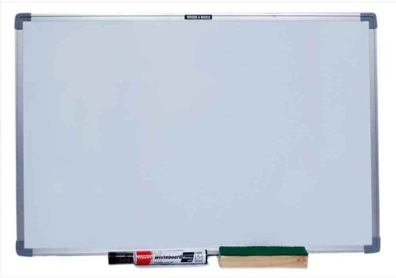 Roger & Moris Non Magnetic 1.5 X 2 FEET Whiteboards and Duster Combos(Set of 1, White)