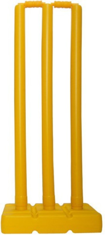 Sports Solutions Plastic stump set for cricket lovers(Yellow)