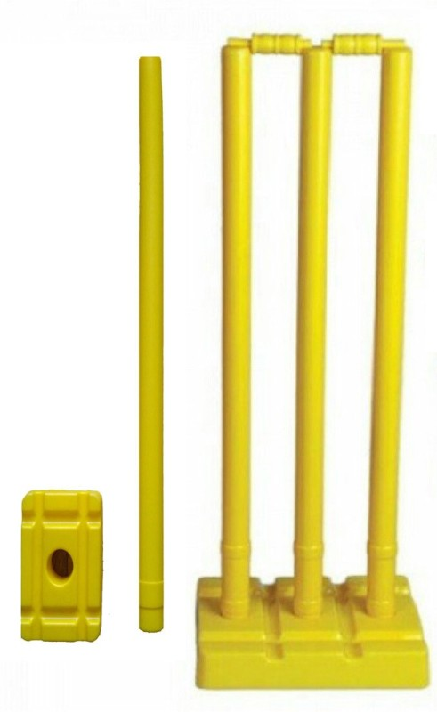 Arnav Plastic Cricket Stumps Set(Yellow)