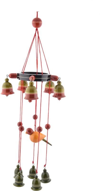 Anuradha Hanging Bells Wood Windchime(36 inch, Multicolor)