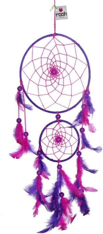 Rooh dream catcher Wool Windchime(18 inch, Pink, Purple)