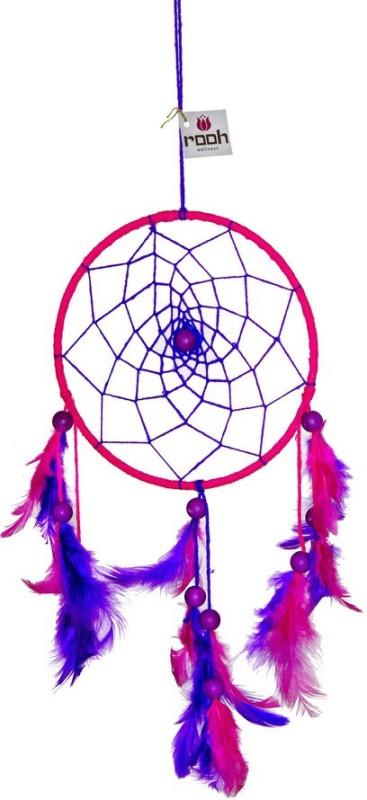 Rooh dream catcher Wool Windchime(14 inch, Pink, Purple)