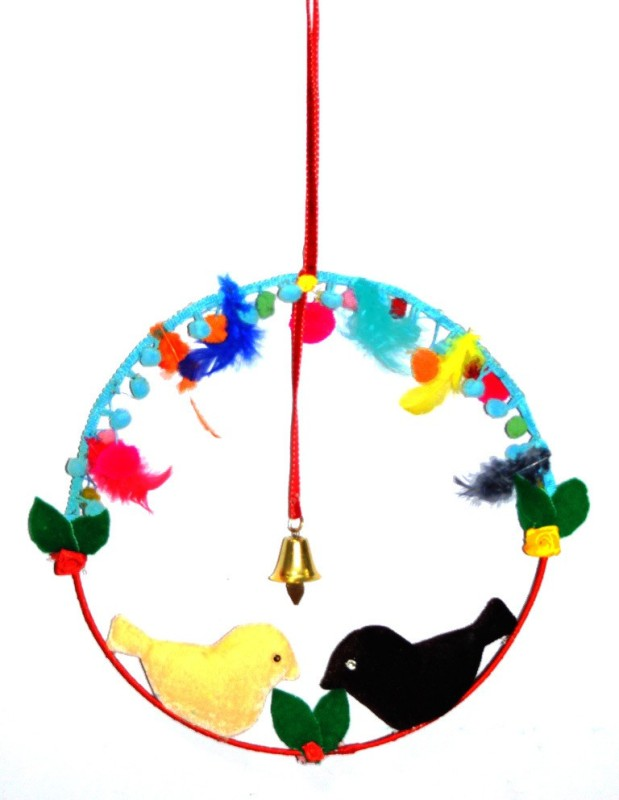 Creative Textiles Iron, Cotton Windchime(10 inch, Multicolor)