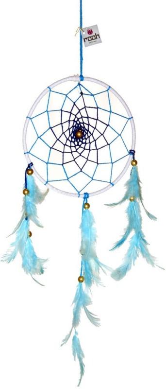 Rooh dream catcher Wool Windchime(14 inch, Blue, White)