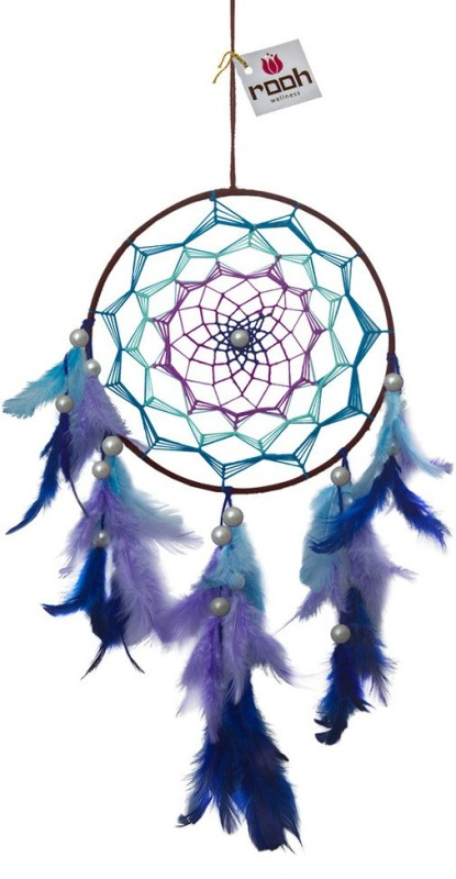 Rooh Wellness Wool Windchime(40 inch, Blue, Green, Pink)