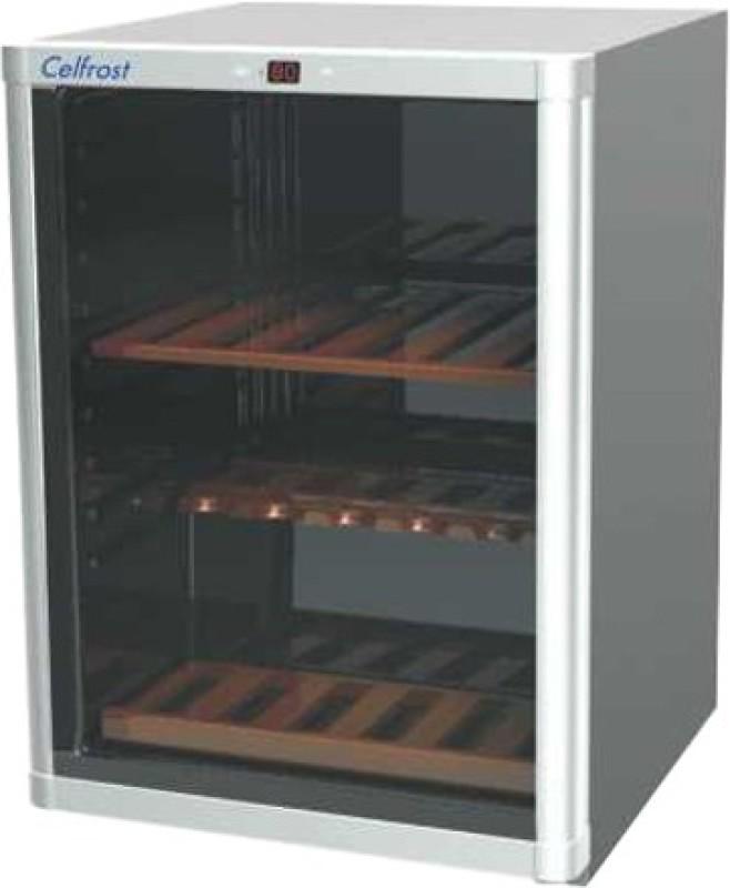 Celfrost W 43 Compressor Based Wine Cooler(Silver, Grey, 43 Bottles)