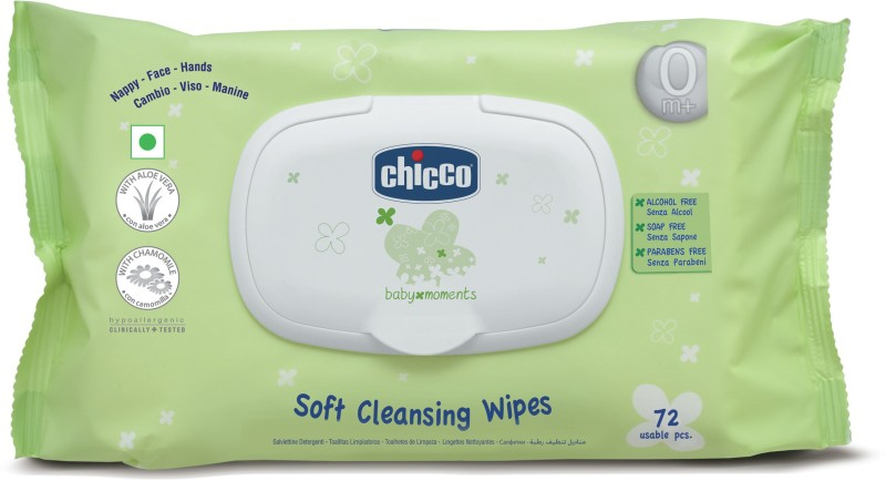 Chicco Wipes Fliptop Pack 72 Pcs(72 Pieces)