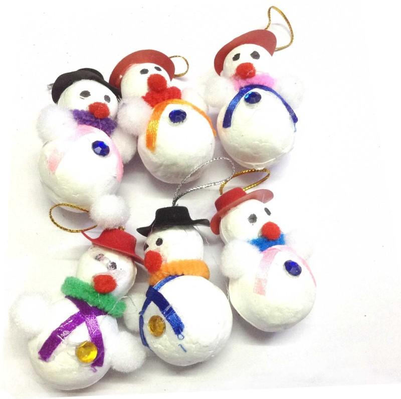 Unique Arts CuteSnowman12 Hanging Ornaments Pack of 6