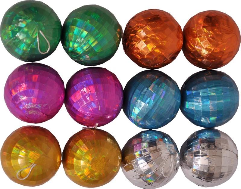 Indigo Creatives Christmas Xmas Tree Decorative Ball (Medium) - Pack Of 12 Topper Ornaments Pack of 12