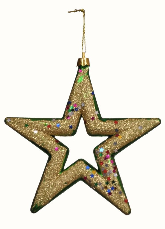 Indigo Creatives Christmas Tree / Door / Wall Hanging Large Star Decoration Hanging Star Pack of 1