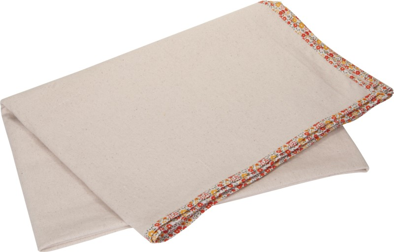 Kanyoga 100% Natural Cotton Multi Purpose Relaxation Yoga Blanket Edging With Floral Print (157cm x 230cm) Yoga Blocks(Multicolor Pack of 1)