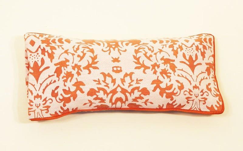 Kanyoga 100% Polyester Flax Seed Lavender Flowers Relaxaing Eye Pillow (23cm x 11cm) Yoga Blocks(Orange, White Pack of 1)